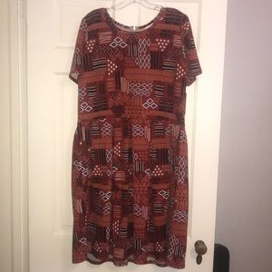 NWT LulaRoe Amelia dress in Brick Red